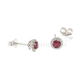 orecchini con pietre rosse